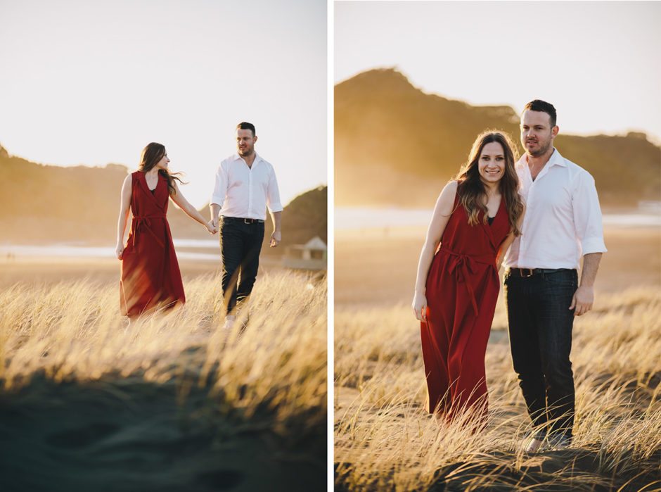 Bethells beach engagement photographer