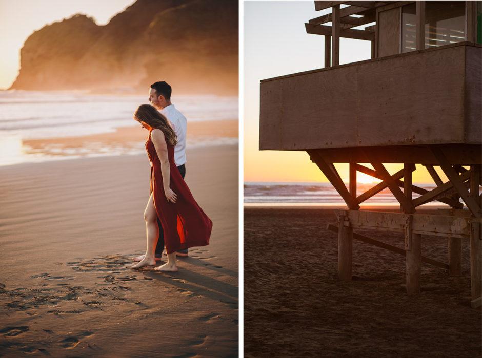 Bethells beach engagement photographer